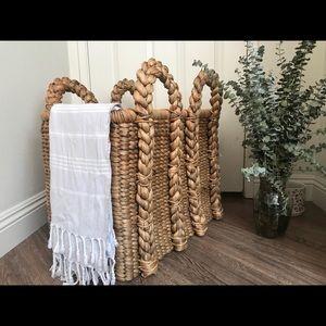 Boho Hand made woven basket